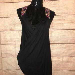 All Saints Spitalfields black mini dress sequined